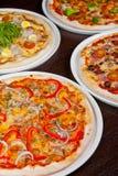 Insieme della pizza Fotografia Stock
