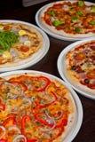 Insieme della pizza Fotografie Stock