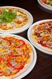 Insieme della pizza Fotografie Stock Libere da Diritti