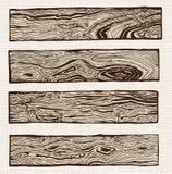Insieme della plancia di legno Fotografie Stock Libere da Diritti