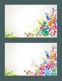 Insieme della priorità bassa variopinta del fiore. illustrazione di stock