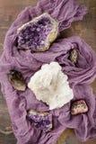 Insieme della raccolta dei minerali e delle pietre Immagine Stock
