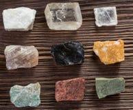 Insieme della raccolta dei minerali e delle pietre Fotografia Stock Libera da Diritti