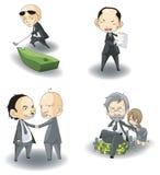 Insieme della raccolta del capo della mafia di deviazione standard (o CEO) illustrazione vettoriale