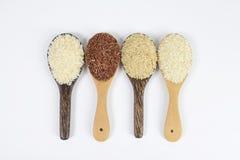 Insieme della raccolta del riso sulla siviera isolata su fondo bianco Fotografia Stock Libera da Diritti