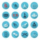 Insieme della raccolta del tema piano di affari delle icone Immagini Stock