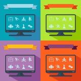 Insieme della raccolta del tema piano di affari delle icone Fotografia Stock
