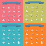 Insieme della raccolta del tema piano di affari delle icone Immagine Stock