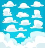 Insieme della raccolta dell'illustrazione del disegno della nuvola del fumetto di vettore illustrazione di stock