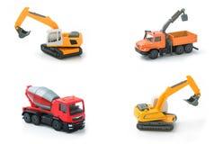 Insieme della raccolta di trasporto della costruzione del giocattolo della miscela Immagini Stock Libere da Diritti