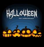 Insieme della raccolta della zucca di Halloween di vettore con l'espressione spaventosa di risata per il modello spettrale dell'i illustrazione vettoriale