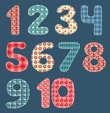 Insieme della rappezzatura di numeri. Fotografia Stock
