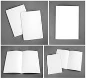 Insieme della rivista in bianco, catalogo, opuscolo, riviste, libro sul gra immagini stock