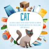 Insieme della roba del gatto illustrazione vettoriale