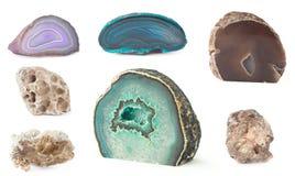 Insieme della roccia isolato Immagini Stock