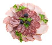 Insieme della salsiccia Fotografie Stock