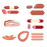 Insieme della salsiccia Fotografia Stock