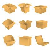 Insieme della scatola immagine stock