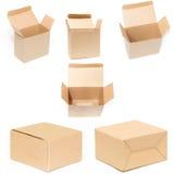 Insieme della scatola di cartone Immagine Stock Libera da Diritti