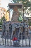 Insieme della scultura che trasporta il vergine del EL Rocio Fotografia Stock Libera da Diritti