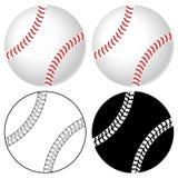 Insieme della sfera di baseball Fotografie Stock Libere da Diritti