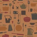 Insieme della siluetta della cucina. Illustrazione Vettoriale