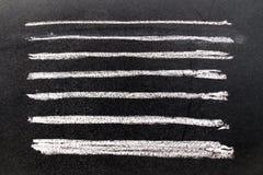 Insieme della spazzola bianca di arte del gesso di lerciume nella linea forma quadrata su blac Fotografia Stock Libera da Diritti