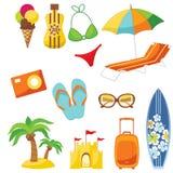 Insieme della spiaggia illustrazione di stock