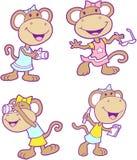 Insieme della star di cinema della scimmia Immagine Stock Libera da Diritti