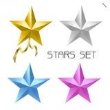 Insieme della stella di colore Fotografie Stock