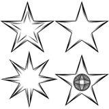 Insieme della stella di Flourish Immagine Stock Libera da Diritti