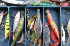 Insieme della strumentazione di pesca immagini stock libere da diritti