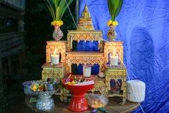 Insieme della tavola dell'altare Fotografia Stock