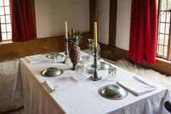Insieme della tavola di cena Fotografie Stock
