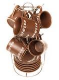 Insieme della tazza del caffè espresso Fotografie Stock