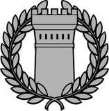Insieme della torre ordersancient con la corona dell'alloro Fotografie Stock Libere da Diritti