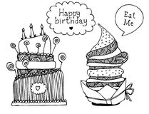 Insieme della torta del dessert royalty illustrazione gratis