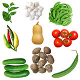 Insieme della verdura Immagini Stock Libere da Diritti