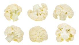 Insieme della verdura del cavolfiore isolato su bianco Fotografia Stock
