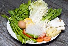 Insieme della verdura della miscela Fotografia Stock