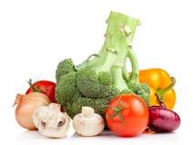 Insieme della verdura fresca Fotografie Stock Libere da Diritti