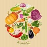 Insieme della verdura fresca Drogheria verde Immagine Stock