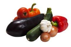 Insieme della verdura per ratatouille - isolato Fotografie Stock