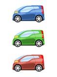 Insieme della vista laterale delle automobili Fotografie Stock Libere da Diritti