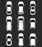 Insieme della vista superiore delle automobili Fotografie Stock