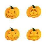 Insieme della zucca di Halloween Immagini Stock Libere da Diritti