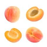 Insieme delle albicocche arancio succose Immagine Stock Libera da Diritti