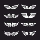 Insieme delle ali di vettore Immagini Stock