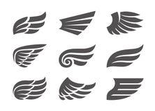 Insieme delle ali di vettore Fotografie Stock