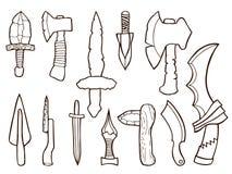 Insieme delle armi antiche Fotografia Stock